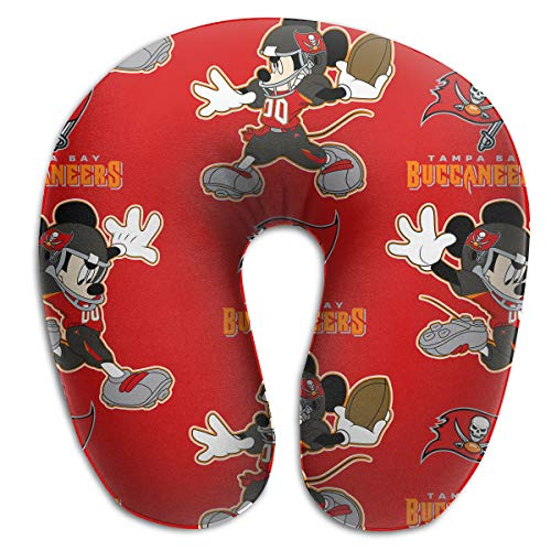 Sorcerer Design Colorful Neck Pillow Tampa Bay Buccaneers American Football Team Rest for Airplanes Travel Pillow Funny Mouse Convenience Sleeping Neck Pain U-Shaped Pillow