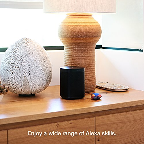 All-new Sonos One – Smart Speaker with Alexa voice control built-In. Compact size with incredible sound for any room. (black)