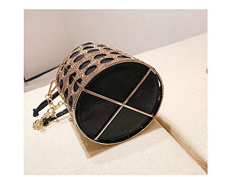 Creux Nouveau Portable Sac Épaule Mode Femmes Black Barrel Rouge Main D'Été Main GWQGZ Fer Sac Sac Lady Sac Designer Matériel À Port Femmes À 0qFwpEU