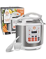 MasterChef 13-in-1 Pressure Cooker- 6 QT Electric Digital Instant MultiPot w 13 Programmable Functions- High and Low Pressure Cooking Options, LED Display, Delay Timer and Non-stick Pot