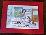 Vet Tech Gift Personalized Custom Cartoon Print 8x10, 9x12 Magnet or Keychain