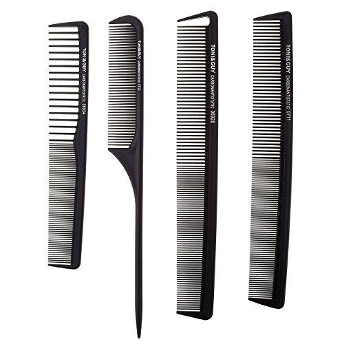 Ayliss® Profi Schneidekamm Set 4 in 1 Anti-Statik Friseur Kamm Haarschneidekamm Frisierkamm Taschenkamm schwarz fein