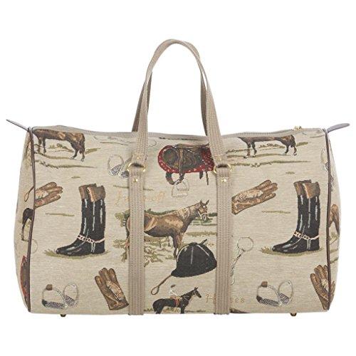 - Huntley Equestrian Tapestry Duffle Bag