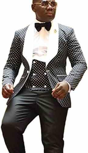bbfbf8ae7902bb Botong Shawl Lapel Wedding Suits 3 Pieces Men Suits Groom Tuxedos Jacket  Vest Pants