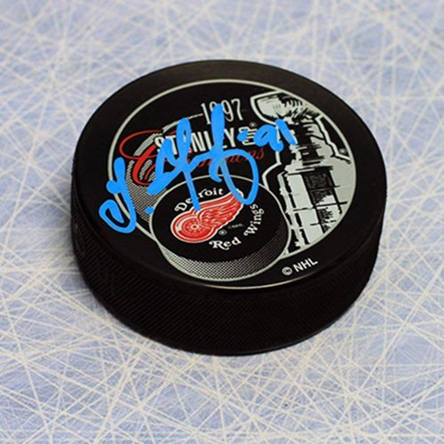 Autographed Sergei Fedorov Detroit Red Wings 1997 Stanley Cup Puck - Autographed NHL Pucks by Sports Collectibles