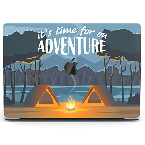 Wonder Wild Case for MacBook Air 13 inch Pro 15 2019 2018 Retina 12 11 Apple Hard Mac Protective Cover Touch Bar 2017 2016 2015 Plastic Laptop Print Adventure Camp Cute Travel Forest Graphic Tents ()