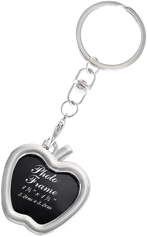 Beaugif Photo Frame Keychain Picture Frame Keyring Souvenir Key Chain Tag