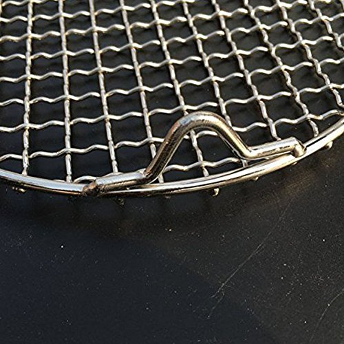 Fivebop Multi-Purpose Stainless Steel Cross Wire Round Steaming Cooling Barbecue Racks/Carbon Baking Net/Grills/Pan Grate with 3 Legs (11 inches) by Fivebop (Image #4)