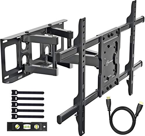 (EVERVIEW TV Wall Mount Bracket fits to most 37-70 inch LED,LCD,OLED Flat Panel TVs, Tilt Full motion Swivel Dual Articulating Arms, bring perfect viewing angle, Max VESA 600X400, 132lbs Loading)