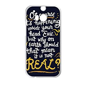 HTC One M8 Case White Harry Potter Quotes Cell Phone Case Cover H6R3UT
