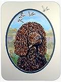 Caroline's Treasures Irish Water Spaniel Glass Cutting Board, Large, Multicolor