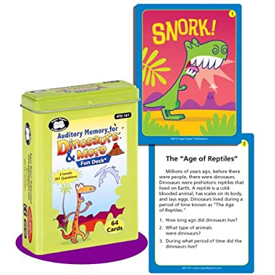 Auditory Memory for Dinosaurs & More Fun Deck Cards - Super Duper Educational Learning Toy for Kids: Toys & Games
