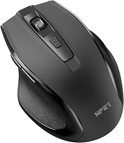 6 Buttons ULTRA-DURABLE /& ERGONOMIC 5 Adjustable DPI Wireless Gaming Mouse