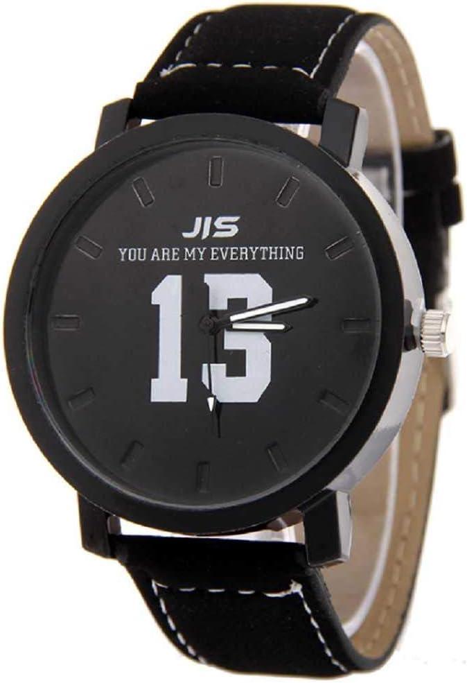 WSSVAN Creativo Nuevo 1314 Pareja Hombres y Mujeres Reloj de Cuarzo Personalidad Gran dial Mate cinturón Reloj Hombres y Mujeres Casual Reloj de Regalo del día de San Valentín