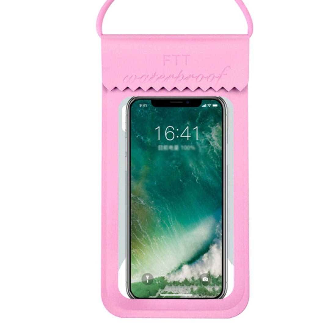 Mercure 10 Pieces Outdoor Mobile Phone Waterproof Bag Diving TPU Transparent Bag Swimming Touch Screen Mobile Phone Bag Universal Waterproof Case (Color : Pink Size) by Mercure