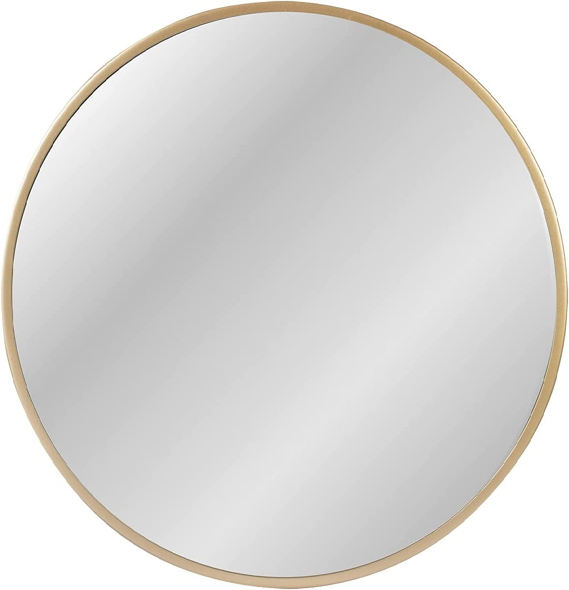 ZENMAG Round Wall Mirror,24-inch Large Circle Mirror,Gold Metal Framed Wall-Mounted Bathroom Mirror,Decorative Round Mirror for Bathroom Decor,Vanity Bedroom,Living Room,Entryway