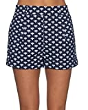 Diane von Furstenberg Gillian Pleated Front Shorts, Peace Palm, Size 2