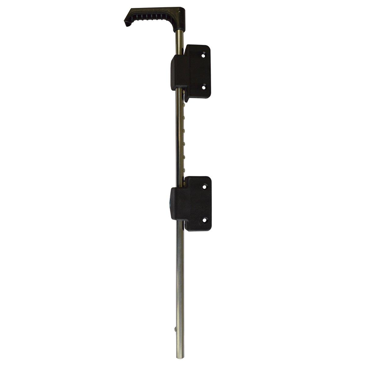 Black 24 Inch Key-Lockable Stainless Steel Drop Rod | Keyed Alike | NW38305KL-24SSB