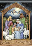 Holy Family Christmas House Flag Nativity Baby Jesus Religious 28″ x 40″ For Sale