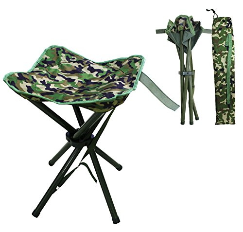 Portable Folding Stool Slacker Chair Lightweight Foot Rest Seat with Carrying Case for Outdoor Camping Fishing Hiking Mountaineering Travel Outdoor Recreation