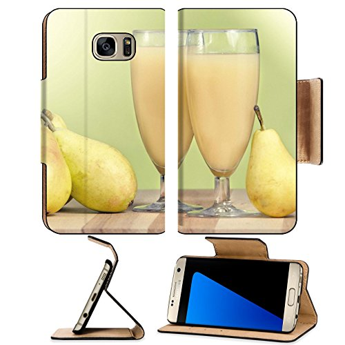 Liili Premium Samsung Galaxy S7 EDGE Flip Pu Leather Wallet Case IMAGE ID: 23015627 still life of pears and glasses filled with pear - Nectar Card Deals