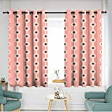 home1love Thermal Insulated Blackout Curtains Room Darkening, Noise Reducing W 72' XL 72' Abstract dot Pattern Wallpaper with Stripes Illustration
