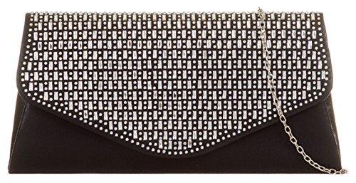 Gemstones Clutch Shimmer Bag Black Girly HandBags 7qAR0w