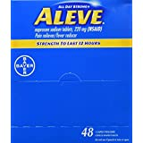 Bayer Aleve Individual Sealed 1 Caplet In a Packet, 48 Count