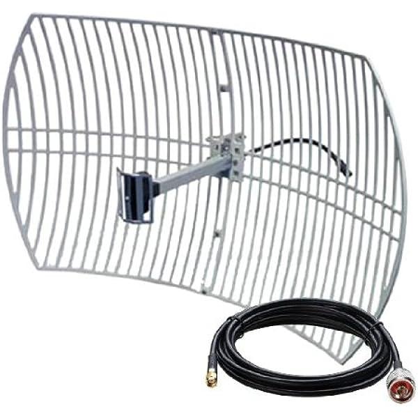 Antena WiFi PARABOLICA 24DB Grid 24DBI 24 DBI de Rejilla ...