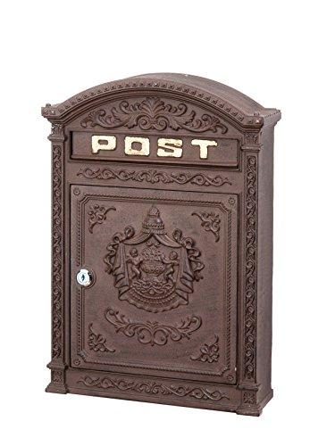 Briefkasten Wandbriefkasten Alu Nostalgie Postkasten braun antik Stil letterbox