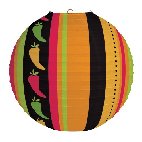 Creative Converting Decorative Round Paper Lantern, Fiesta Grande