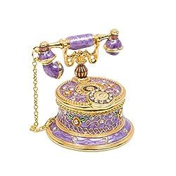 T2 Vintage Style Telephone Shape Jewelry Trinket Box