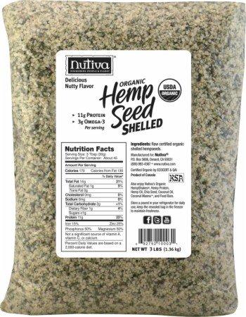 Nutiva Organic Shelled Hempseed (Bag) 3 Lb