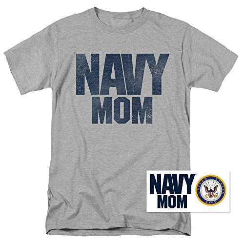 Popfunk U.S. Navy Mom T Shirt & Exclusive Stickers (Large) (Mom T-shirt Tee)