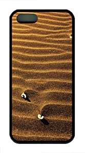 iPhone 5S Case Cover - Sand Ripples Designer iPhone 5S/5 Case and Cover - TPU - Black