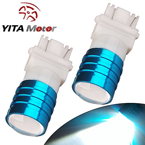 YITAMOTOR 2x High Power 7W 3157 Projector Backup Reverse Super White LED bulbs T25 3057 4157