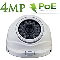 PoE IP Security Camera-4MP Network Dome Camera - Wide Angle with 3.6mm lens- 24 LEDs For Clear 65 Feet Night Vision-Alptop