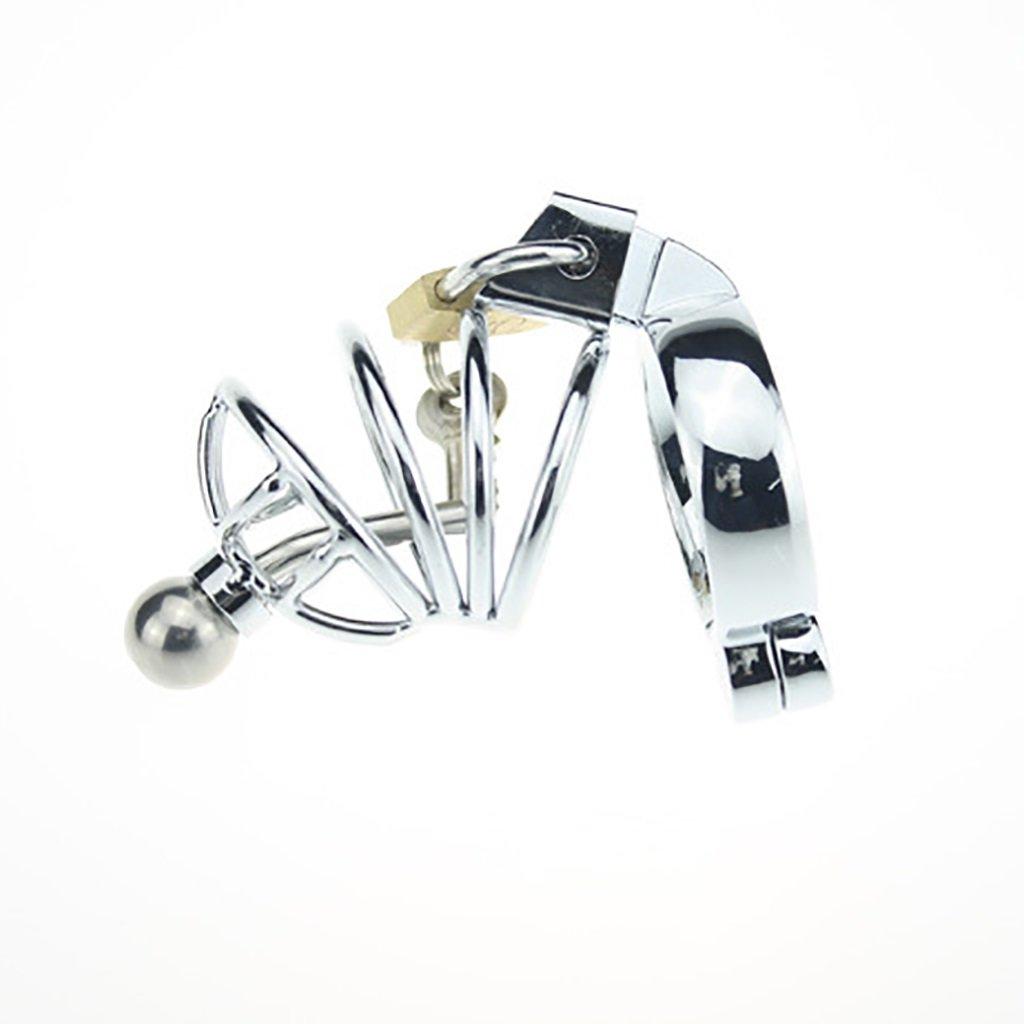LYN- Sexo Juguetes eróticos Cinturones de sexuales, castidad Jaula de castidad, juguetes sexuales, de Castidad de juguete Castidad masculina con bloqueo de cuentas (Color : 50MM) 47f035