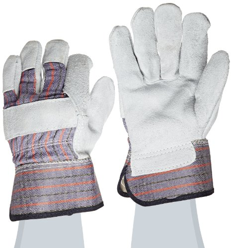 Gray Leather Palm Glove (West Chester 71020/M Split Cowhide Leather Palm Work Glove, Gray, Medium)