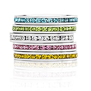Stylish Birthstone Stackables Swarovski Crystal By Kate Bissett