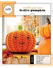 Crochet Your Own Festive Pumpkin: Includes: 32-Page Instruction Book, 3 Colors of Yarn, Crochet Hook, Yarn Needle, Fiberfill, Safety Eyes