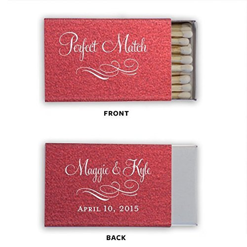 Personalized Matches, Matchbox Wedding Favors, Wedding, A Perfect Match, Decorative Matchbox (Wedding Matchbox)