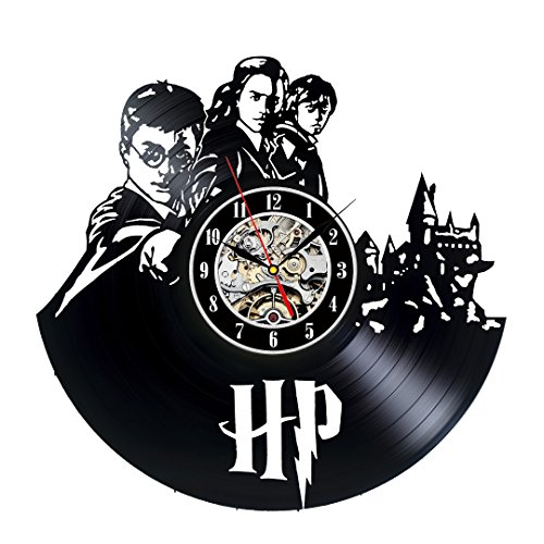 Vinyl Record Harry Potter Clock
