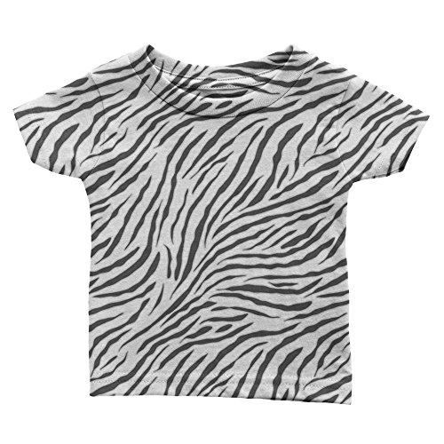 Speedy Pros White Black Zebra Print Toddler Kid Baby T-Shirt Tee - Snap Zebra Pro Touch