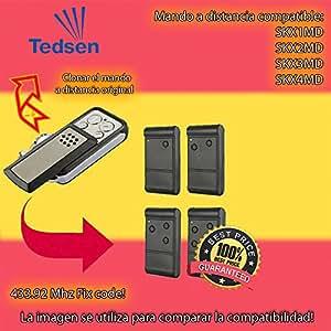 Compatible con TEDSEN SKX1MD, SKX2MD, SKX3MD, SKX4MD reemplazo remoto