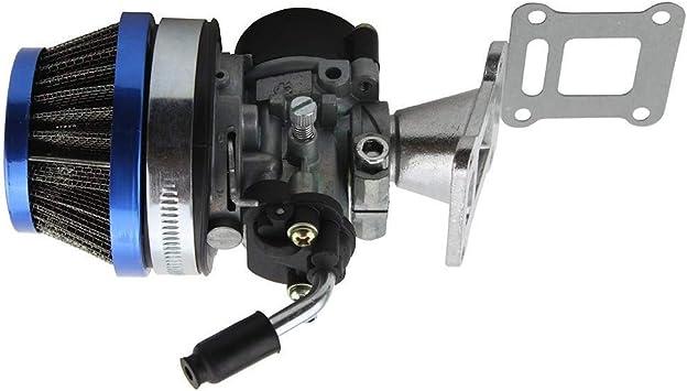 49CC 2-Takt Motor Mini Motor Komplette Motoreinheit Aluminum mit Vergaser F/ür Pocketbike Dirt Bike Mini ATV