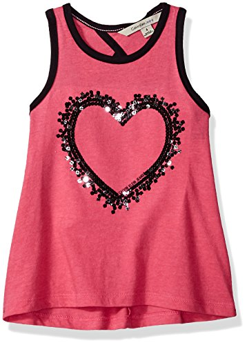 Calvin Klein Little Girls' Twisted Back Tank, Bright Pink, 6 by Calvin Klein