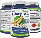 White Kidney Bean Extract Effective Carb Blocker Premium Formula for Weight Loss 1500mg Blocks starch, carbs & metabolizes fat 60 capsules