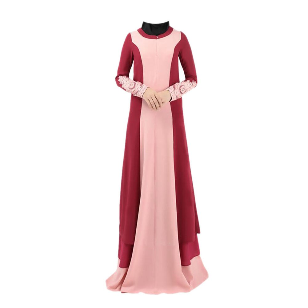 Haodasi Muslim Women Maxi Dress Kaftan Islamic Abaya Malaysia Long Sleeve Robe: Amazon.co.uk: Clothing