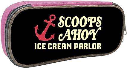 Hugo Payne Scoops Ahoy Ice Cream Parlor Stranger Things - Estuche para lápices de gran capacidad: Amazon.es: Oficina y papelería